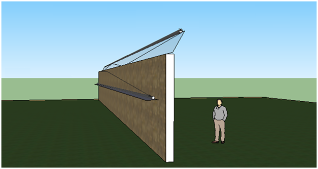Закрепление волоконно оптических сенсоров системы охраны периметров СВМ-1 на тяжелых или монолитных ограждениях
